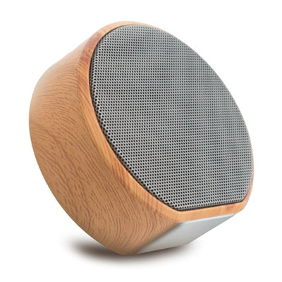 A60 Wood Grain Wireless Bluetooth Speaker Portable Mini Subwoofer Audio Gift Stereo Loudspeaker Sound System Support TF AUX USB