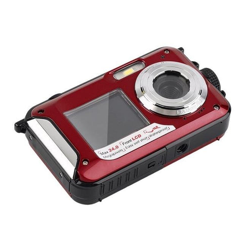 HD268 Waterproof Digital Camera 2.7 inch TFT Double Screen Camera 24MP MAX 1080P Full HD Underwater Zoom Camcorder