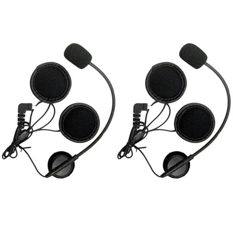 2Pcs Mini 8 Pin Earpiece Microphone Speaker for BT S1 BT S2/S3 Motorcycle Bluetooth Intercom Interphone Headset for Open Helmets on AliExpress
