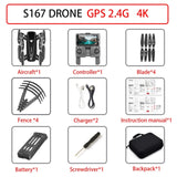 S167 drone GPS 4K HD 1080P 5G WIFI FPV drone flight 20 minutes height to maintain Quadcopter control distance 500m drone camera on AliExpress