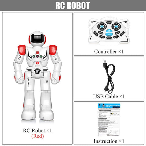 Robot USB Charging Dancing Gesture Action Figure Toy Robot Control RC Robot Toy for Boys Children Birthday Gift