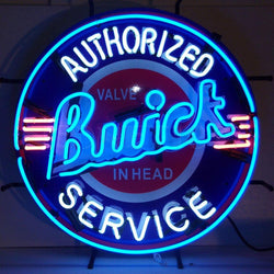 gm buick neon sign with backing
