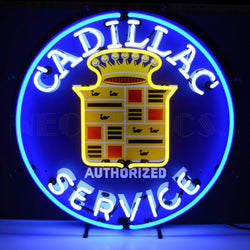 gm cadillac service neon sign