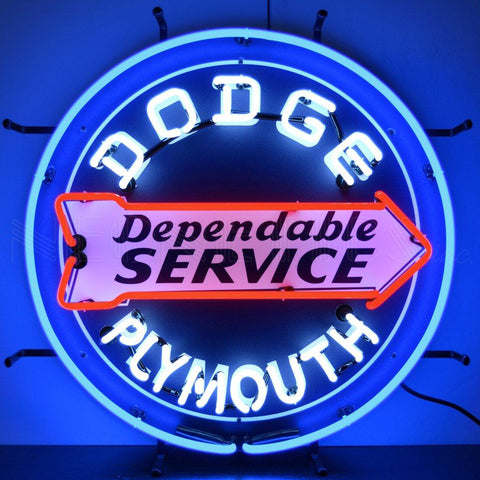dodge service neon sign