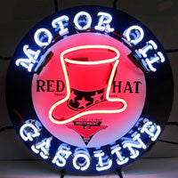 red hat gasoline neon sign
