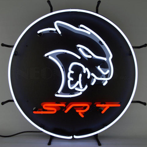 dodge srt hellcat neon sign