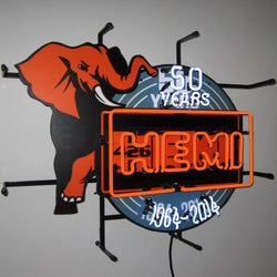hemi 50th anniversary neon sign