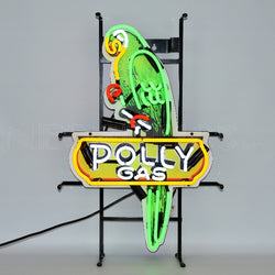 shaped polly gas neon sign with backing