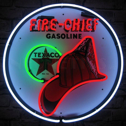 texaco fire chief neon sign