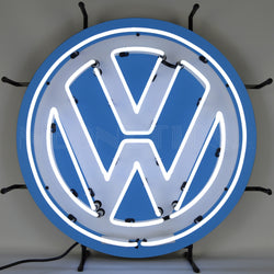 volkswagen vw round neon sign with backing