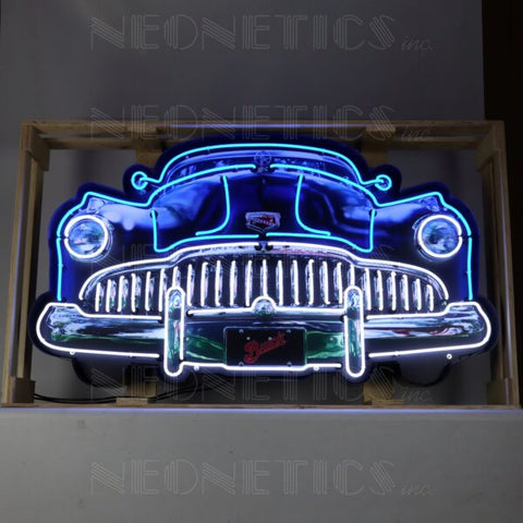 BUICK GRILL NEON SIGN IN STEEL CAN