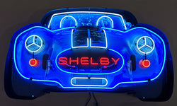 COBRA 427 SHELBY GRILL NEON SIGN IN STEEL CAN