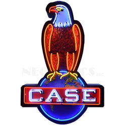 CASE EAGLE NEON SIGN IN STEEL CAN