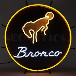FORD BRONCO NEON SIGN WITH BACKING