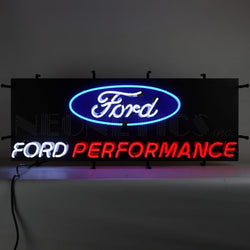 FORD PERFORMANCE NEON SIGN WITH BACKING