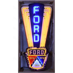 FORD JUBILEE NEON SIGN IN SHAPED STEEL CAN