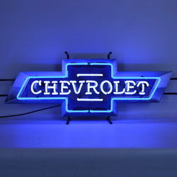 GM CHEVROLET BOWTIE NEON SIGN WITH BACKING