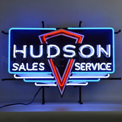 HUDSON NEON SIGN WITH BACKING