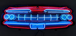 IMPALA GRILL NEON SIGN IN STEEL CAN