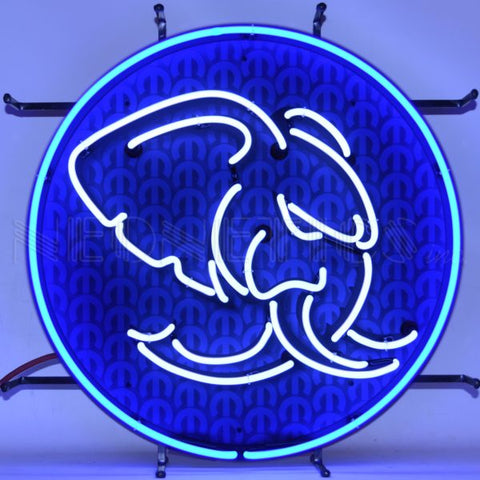 HELLEPHANT HEMI MOPAR NEON SIGN WITH BACKING