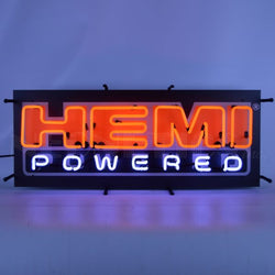 MOPAR HEMI POWERED NEON SIGN WITH BACKING