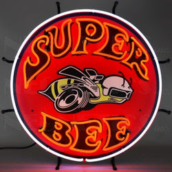 SUPER BEE NEON SIGN WITH BACKING