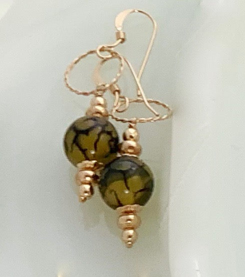 Dragon's Vein Drop Earrings