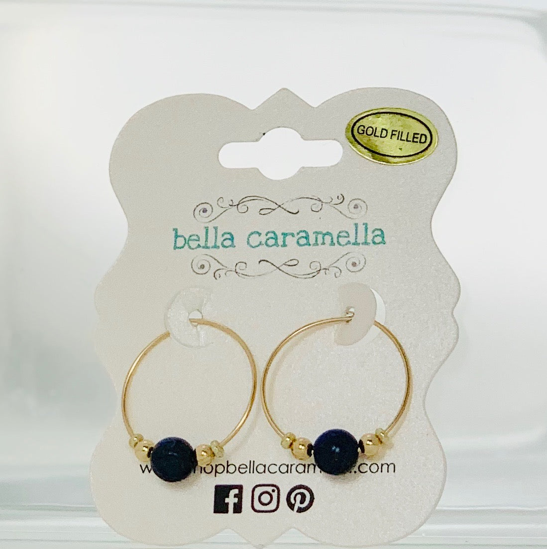 Lapis Lazuli Minimalist Hoop Earrings