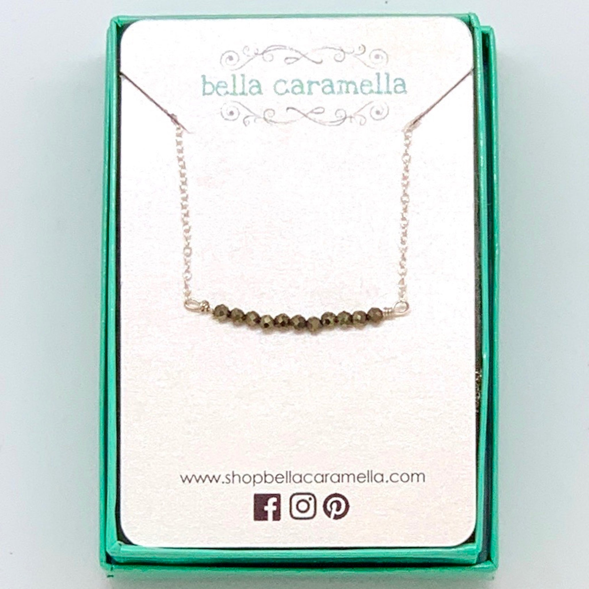 Sterling Silver Hematite Bar Necklace