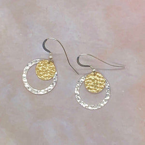 Nesting Circles Sterling Silver Earrings
