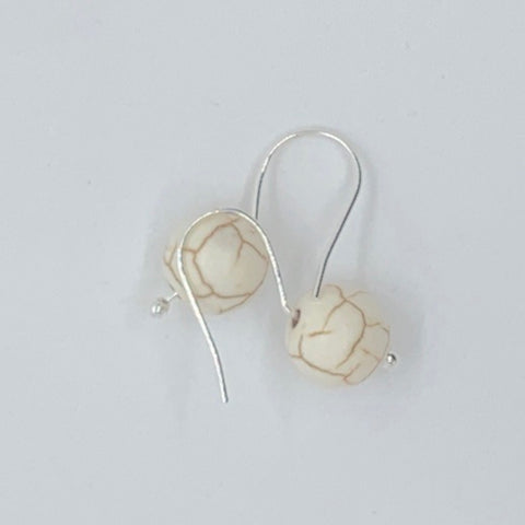 Howlite Minimalist Earrings