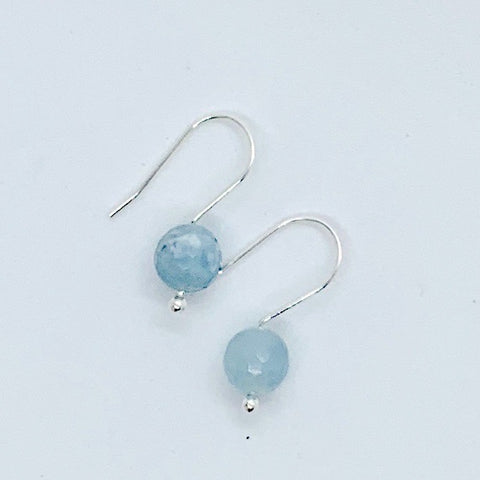 Aquamarine Minimalist Earrings