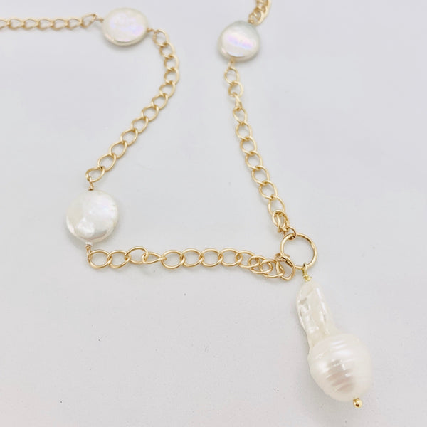 Keshi Baroque Pearl Necklace