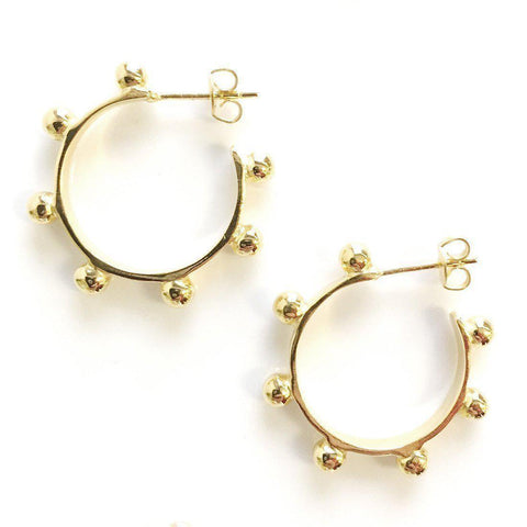 24kt Gold Hardin Small Hoops
