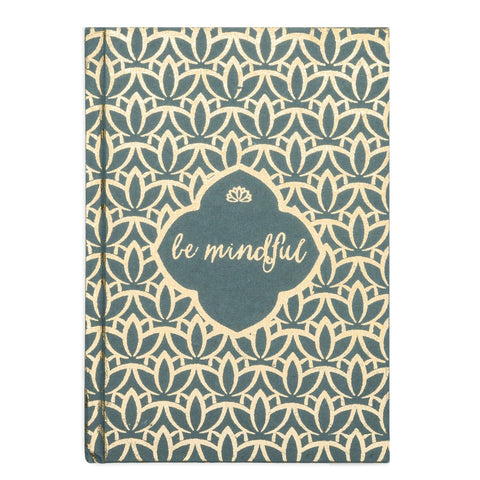 Metallic Be Mindful Message Fair Trade Journal