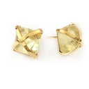Martin 24k Gold Gemstone Criss Cross Studs-Women - Jewelry - Earrings-ADDISON WEEKS-Lemon Topaz-Peccadilly