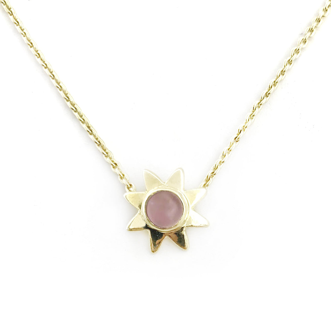 Starr Genuine Gemstone Pendant Necklaces-Women - Jewelry - Necklaces-ADDISON WEEKS-Pink Opal-Peccadilly