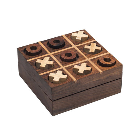 Rosewood Tic Tac Toe Game Fair Trade