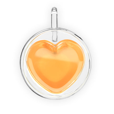 Kendall Double Walled Glass Heart Mug