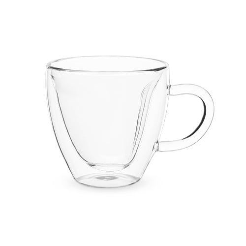 Kendall Double Walled Glass Heart Mug-PINKY UP-Peccadilly