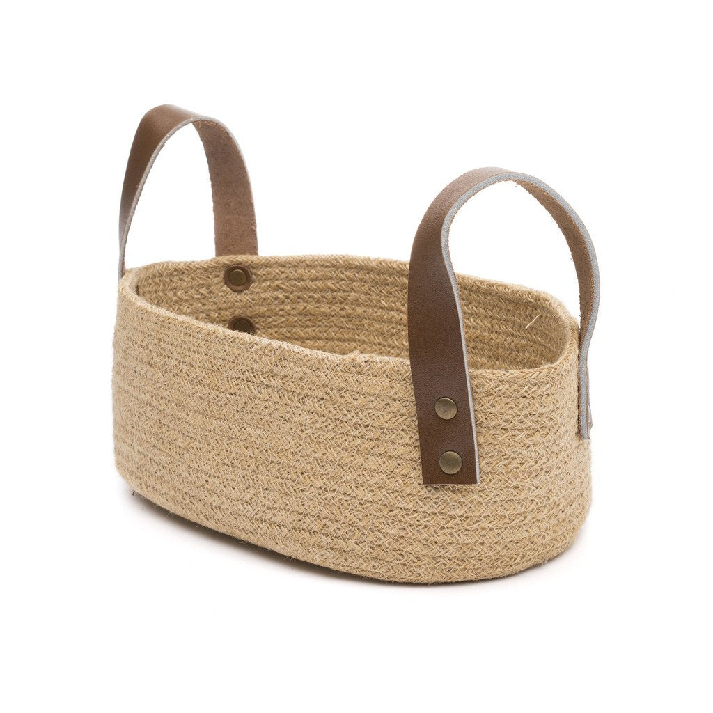 Jute Table Basket Oval Fair Trade-Home - Dcor - Baskets-MATR BOOMIE FAIR TRADE-Peccadilly