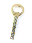 Gemstone and Laquered Brass Bottle Opener