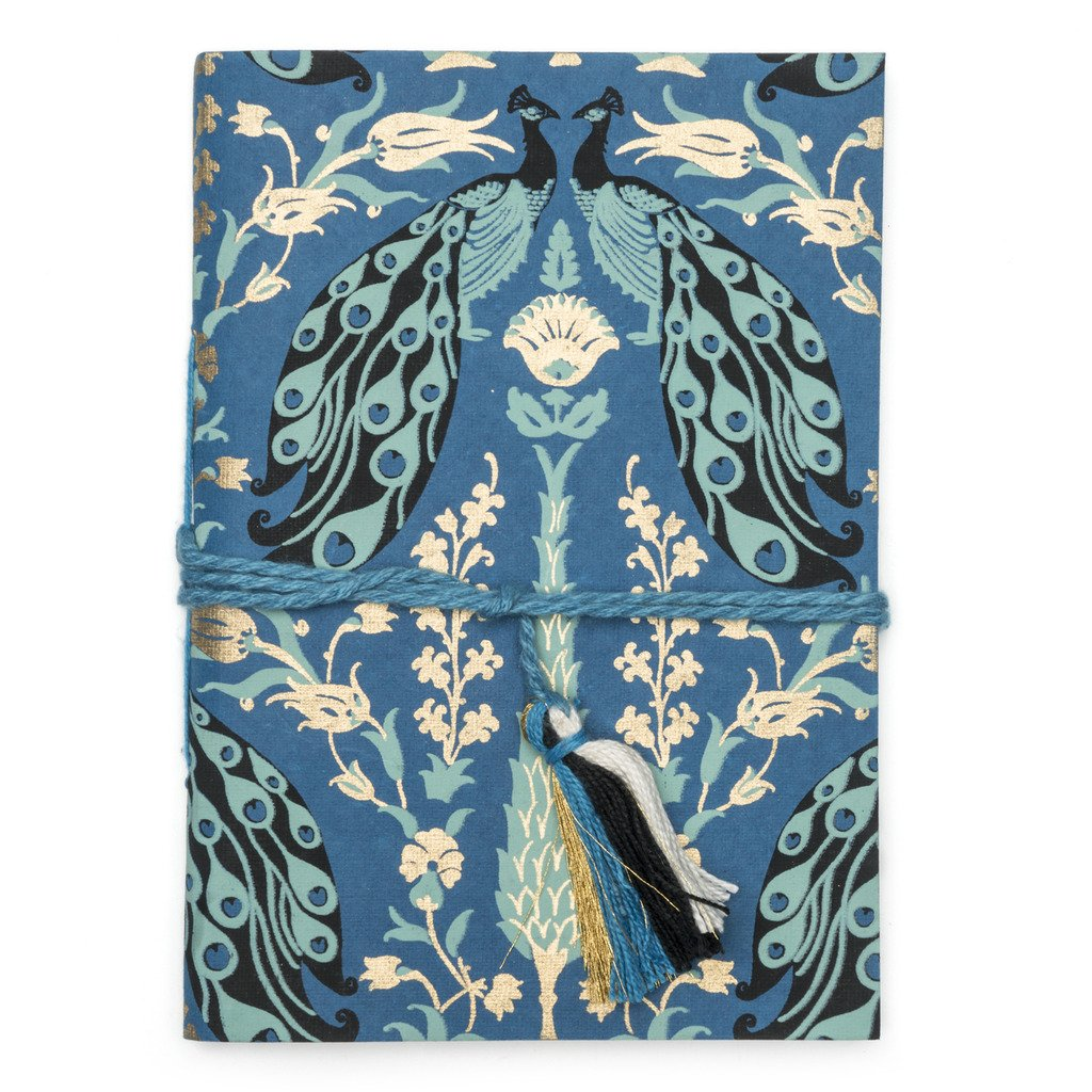 Fauna Blue Peacock Fair Trade Journal-Home - Accessories - Journals-MATR BOOMIE FAIR TRADE-Peccadilly
