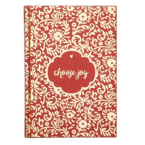 Metallic Choose Joy Message Fair Trade Journal