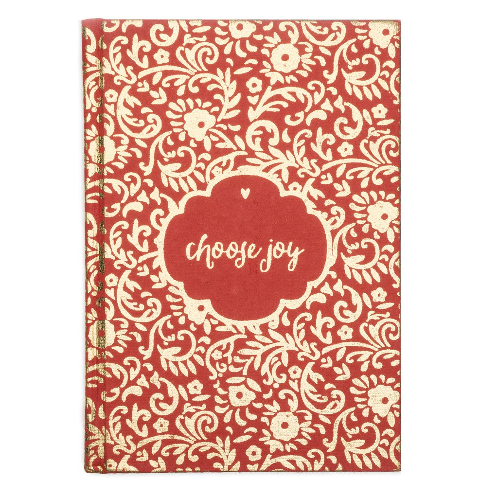 Metallic Choose Joy Message Fair Trade Journal-Home - Accessories - Journals-MATR BOOMIE FAIR TRADE-Peccadilly