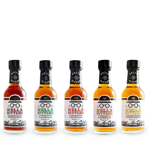 Hella Cocktails Bitters Gift Set of Five 1.7 OZ