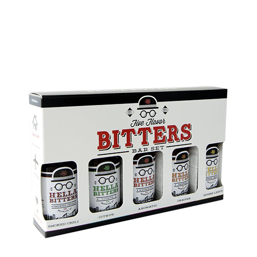 Hella Cocktails Bitters Gift Set of Five 1.7 OZ-Home - Entertaining - Consumables-HELLA COCKTAILS-Peccadilly