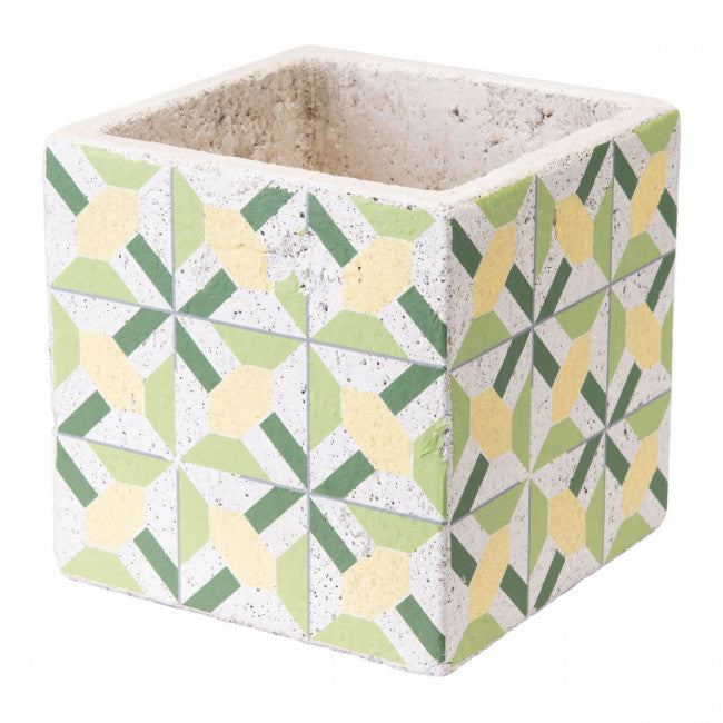 Cement Geometric Design Planter Containers