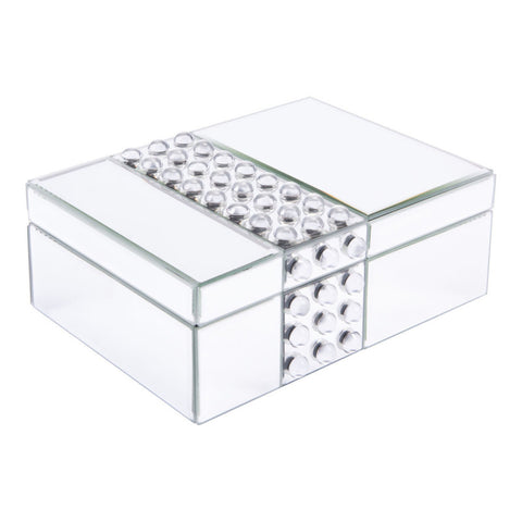 Studded Mirror Lucite Jewelry Accessories Box