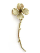 Single Flower Gemstone and Brass Branch